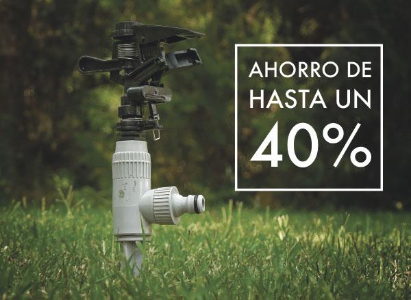 El riego inteligente permite ahorrar hasta el 40%