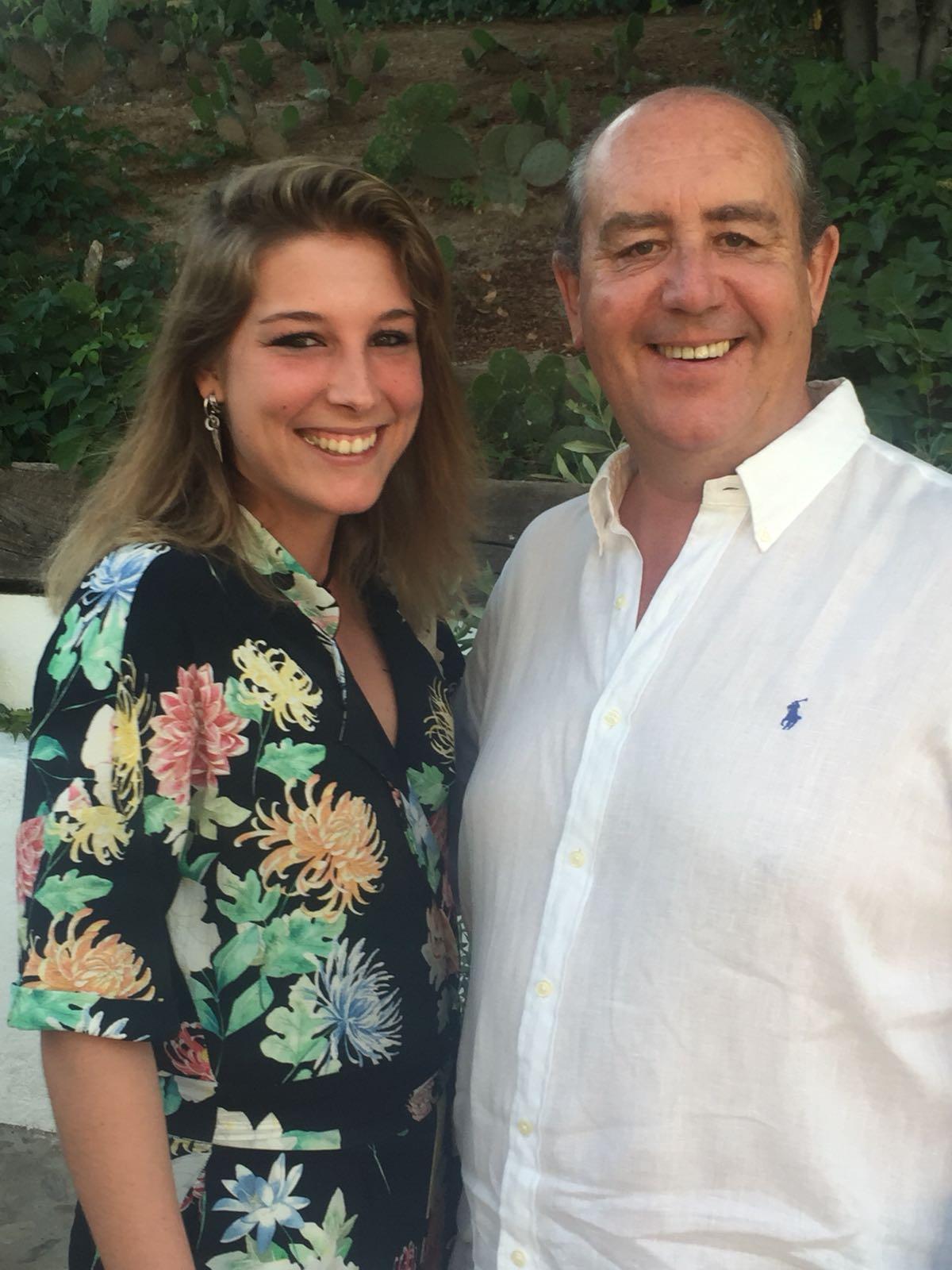 Ramón Lago y su hija