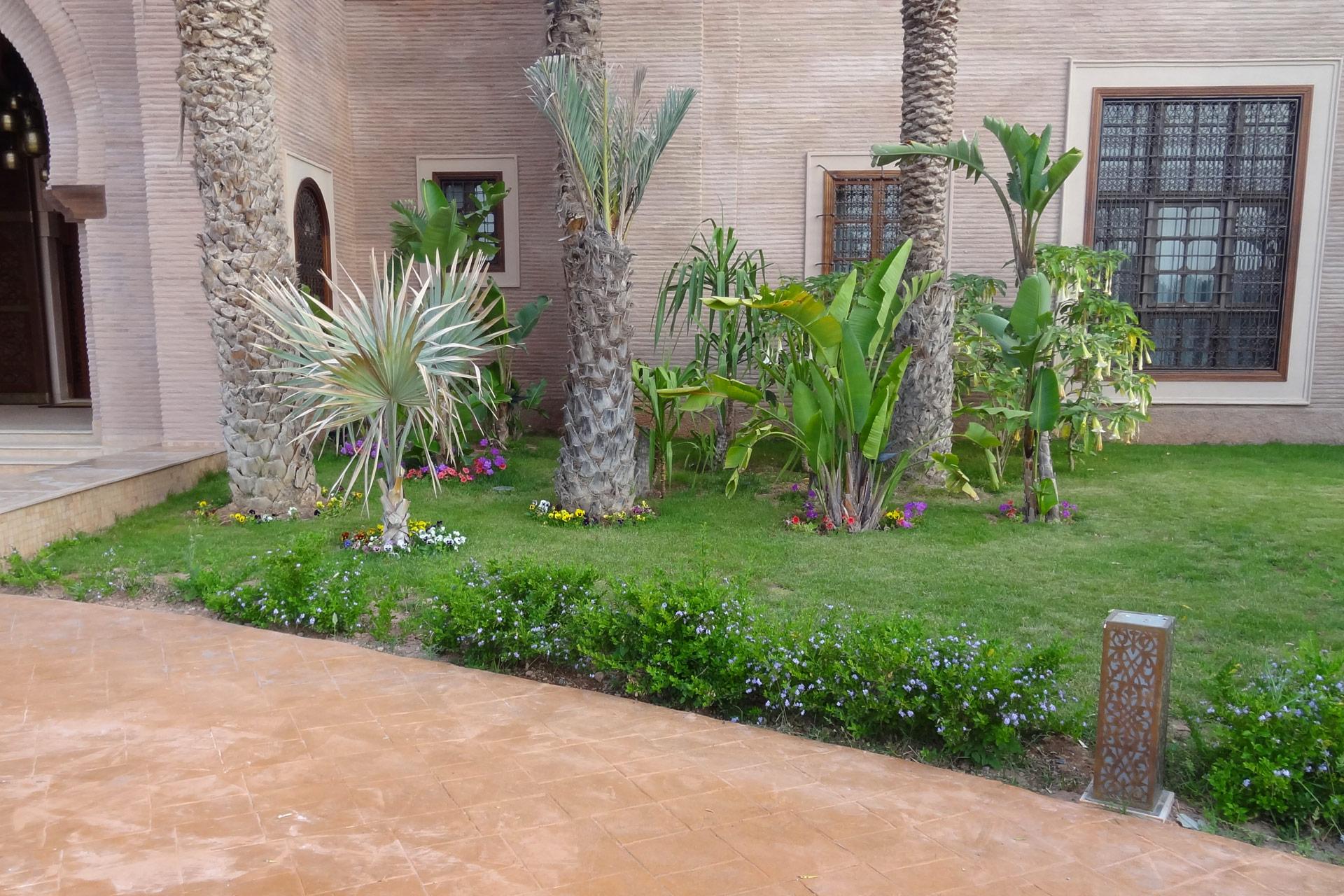 Jardín estilo árabe